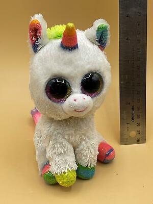 "Ty Beanie Boos MAGIC the Unicorn 9/"" Beanbag Plush Toy w// Solid Eyes"