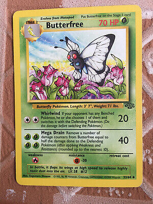 Butterfree Pokemon Jungle Uncommon cards Rapidash Persian you choose all 16!