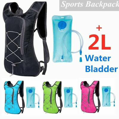 Cycling Foldable Rucksack Backpack 2L Water Bladder Bag Hydration Pack E5Y0