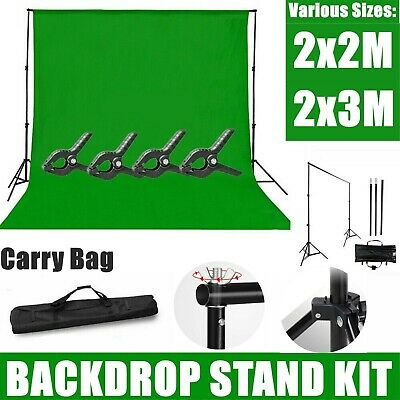 Photo-Studio Heavy-Duty Backdrop Screen Stand KIT Background Support System UK