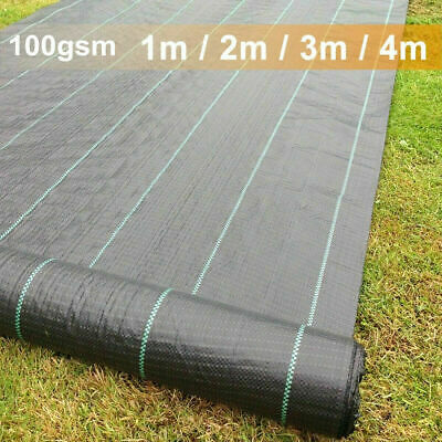 1-4m Extra Heavy Duty Weed Control Fabric Membrane Garden Ground Cover Mat Sheet