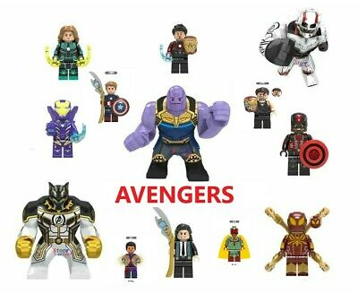 Marvel DC Thor Infinity War End Game Super Heroes Lego Avengers Minifigures 100