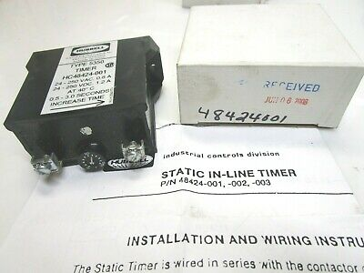 New Hubbell 48424-001 Timer