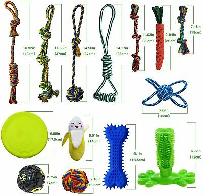 Dog Chew Toys for Puppies Teething, 14 Pack Dog Rope Toys Tug War Dog Toy Bundle