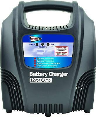 Streetwize Compact Battery Charger 12V 6AMP Motorhome Car Van Lawnmower