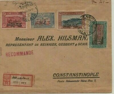Galata Turkey 9/3/1919 Rare Registred Cover To Constantinople, Armistice Stamps