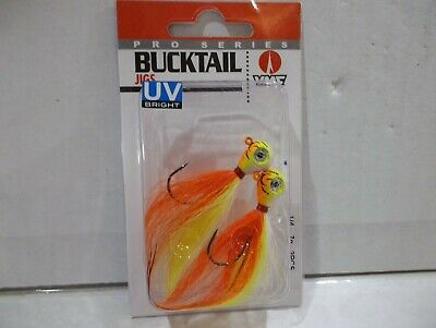 VMC Pro Series Bucktail 1//8 ounce chartreuse white 2 per package NIP