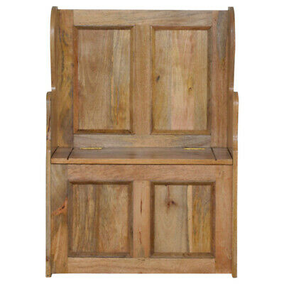 Hallway Monks Bench Church Pew Small Light Mango Wood Storage Country Cottage