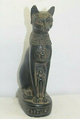 Pharaonic Ancient Egyptian Antique Cat Bastet Statue BC