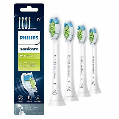 Philips Sonicare Diamond Clean Replacement Toothbrush Heads HX6064/65 WHITE