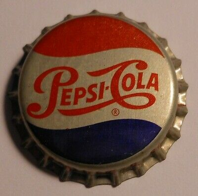 A Pepsi Cola Bottle Cap White Glass Advertising Marble