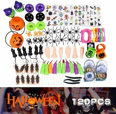 120 Pack Halloween Party Toys Party Bag Fillers Trick Or Treat Favour Pinata