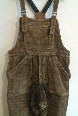 Vtg 50s French cord corduroy overalls bibs work chore pants dungarees