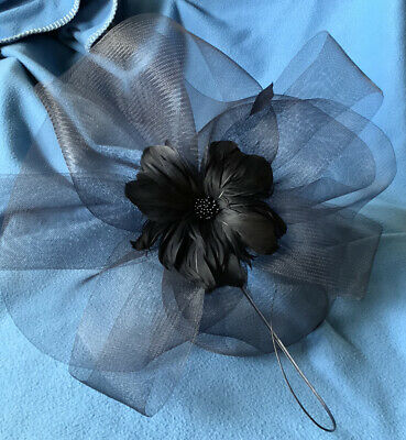 Debenhams Debut Black Fascinator On Headband Worn Once