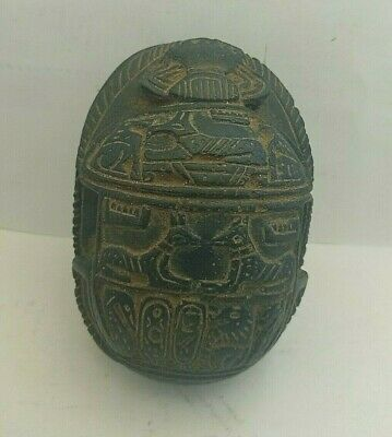 Pharaonic Ancient Egyptian Antique Anubis Scarab Tomb Protection BC