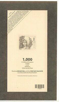 Usps 2018 $1 Statue Of Freedom Stamp Deck Top Card