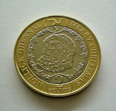 2019 ISLE OF MAN CHRISTMAS TWO POUNDS £2 COIN. FATHER CHRISTMAS SANTA - IoM MANX