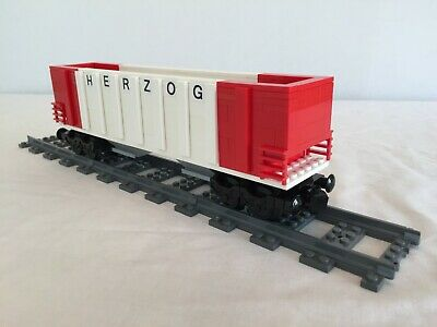 Custom Lego Train 6 Wide Covered Hopper Ribbed Side Instructions ONLY