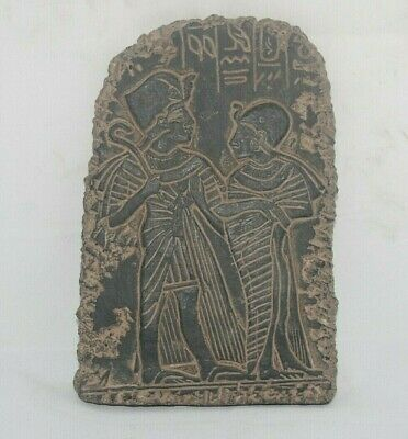 Pharaonic Ancient Egyptian Antique Ramses II and Nefertari Stella BC