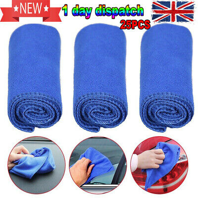 25 x LARGE MICROFIBRE CLEANING AUTO CAR DETAILING SOFT CLOTHS WASH TOWEL DUSTER