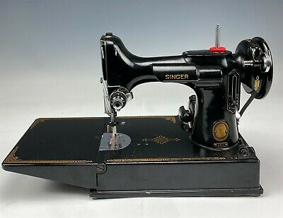 Vintage Singer Model 221 Featherweight AL436359 Portable Sewing Machine NR MCP