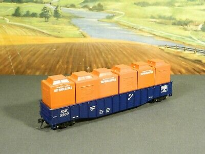 PMI # 6713  Southern Railroad 50 ft Flat w// two 20 ft Containers 1//87 HO NIB