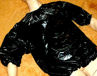 Hochglanz Lack T-Shirt Supersoft Pvc Weichfolie Rubberpant Diaper Adultbaby Xxxl