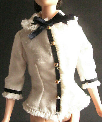 TOP  CITY SEASONS BARBIE DOLL SPRING IN TOKYO TEXTURED SATIN BLAZER COAT BLOUSE