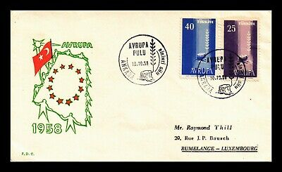 Dr Jim Stamps Europa Cept First Day Issue Combo Turkey Unsealed Cover
