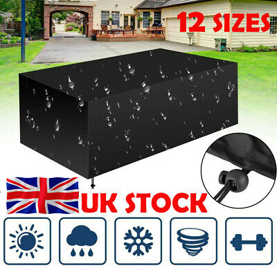 UK Heavy Duty Waterproof Garden Patio Furniture Cover Outdoor Large Rattan Table
