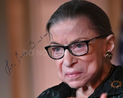 Ruth Bader Ginsburg Supreme Court Justice reprint signed 8x10 photo #3 RP