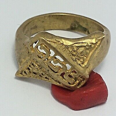 Rare Ancient Ring Roman Bronze Antique Old Authentic Artifact Very Extremely