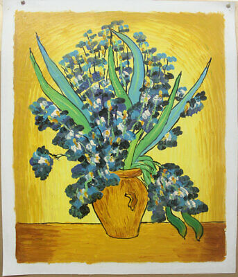 Vincent Van Gogh Irises, Hand Painted Oil Painting Modern Wall Art on Canvas