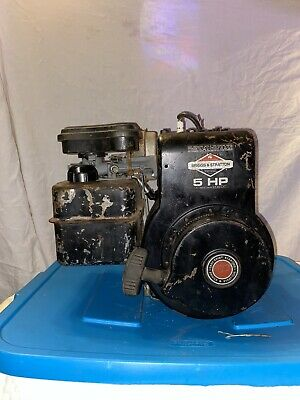 Vintage Briggs And Stratton 5HP horizontal shaft ENGINE runs great
