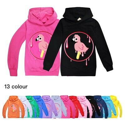 New Kids Flamingo Flim Flam Hoodies Girls Hooded Sweatshirt Jacket Top Xmas Gift