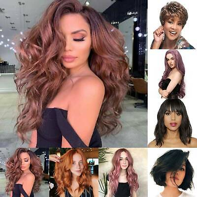 Women Long/Short Curly Wavy Full Wig Casual Natural Cosplay Hair Wigs Hairpieces