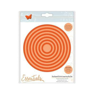 Tonic Studios Scalloped Circle Rectangle and Square Layering Die Sets