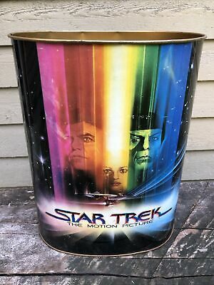 Vintage 1979 Chein Star Trek Trash Can Wastebasket USS Enterprise Motion Picture