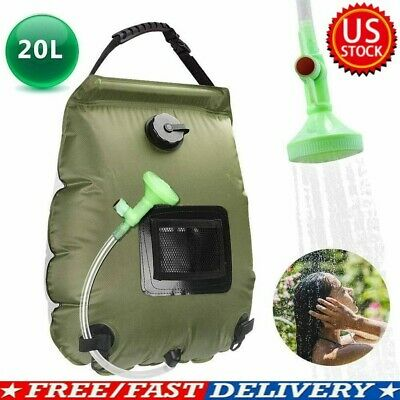 Details about  /20L Portable Shower Heating Pipe Bag Solar Water Heater Outdoor Camping Camp