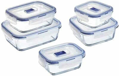 Luminarc Glass Food Storage Container with Vent Lid Rect 8.3 Cups // 2L