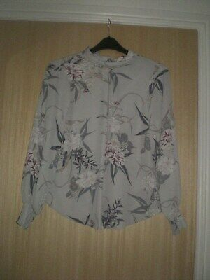 NEW EX K/&D @ DOROTHY PERKINS IVORY PEACH GREEN FLORAL CHIFFON BLOUSE TOP 8-20