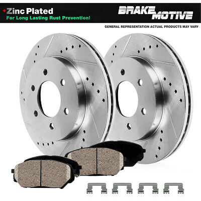 Brake Rotors FRONT ELINE DRILLED SLOTTED S-Dodge DAKOTA 99Dodge DURANGO 98-99