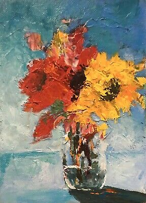 ACEO ATC Signed Print Paris Flower Shop French Art Card Artist Trading Card
