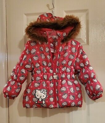 HELLO KITTY Printed Plaid JACKET COAT ~  Toddler Girls 2T /& 3T ~ NWT