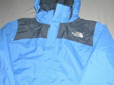 Boy S The North Face Hyvent Blue 100 Nylon Zip Up Hooded Rain Jacket Youth Med 17 99 Picclick