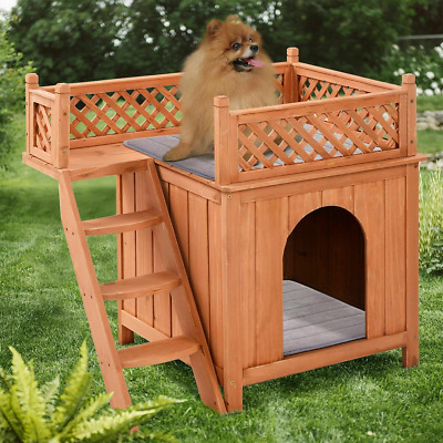 Large Dog House Project Plans Gable Roof Style Doghouse Pet Size up to 150 lbs Design # 90304G