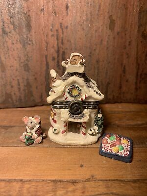 Boyds Bear Santa/'s Festive Basket W// Sticky McNibble Treasure Box 1E 4041889 NIB