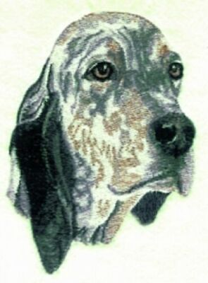 English Setter Birthday Card or Notecard Embroidered by Dogmania