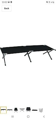 Heavy Duty Outdoor Folding Camping Bed Portable with Carry Bag 150kg//330lb X3Z1