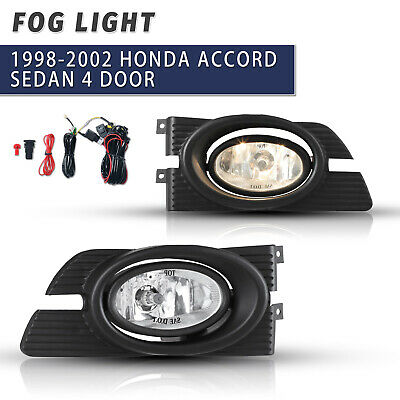 For Accord 5 x 1.75 Square Yellow Driving Fog Light Lamp Kit W// Switch /& Harness
